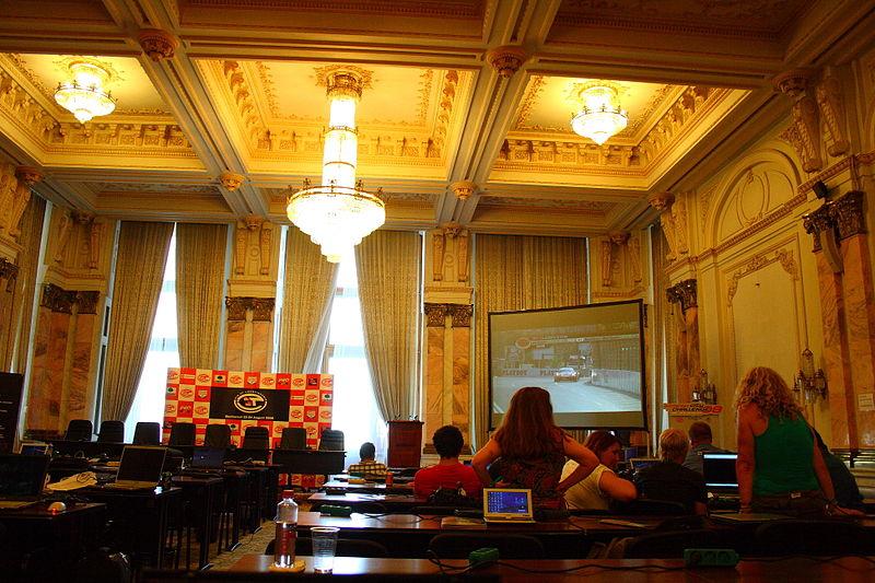 こんな会議室がなんと3,000部屋もある!数が多くて全てを管理できてないそう…。