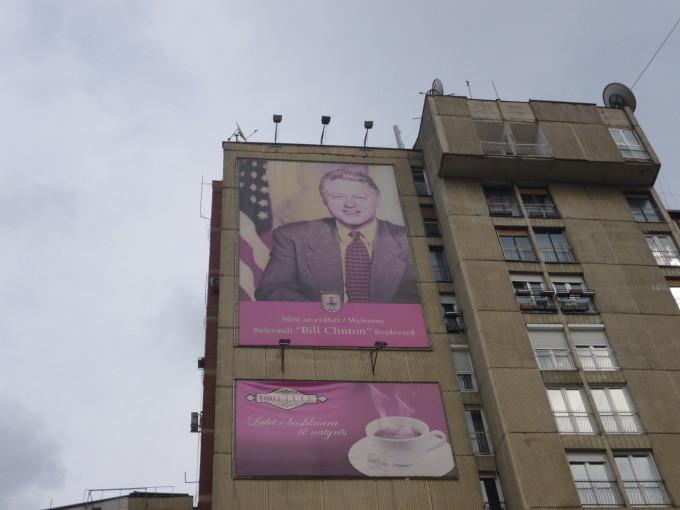 ビル・クリントンのポスターまであったよ!