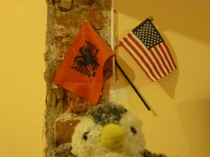 アルバニア(左) + アメリカ(右) = コソボ