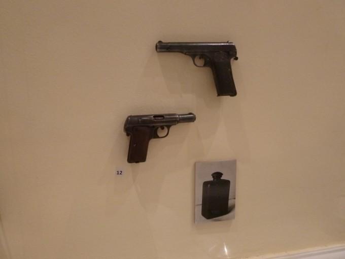 このピストルでフランツ・フェルディナントは撃たれました。