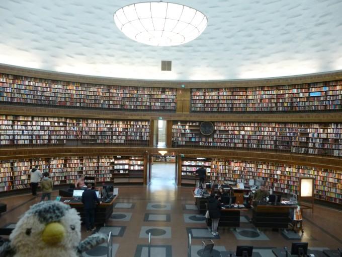 スウェーデンにある図書館!