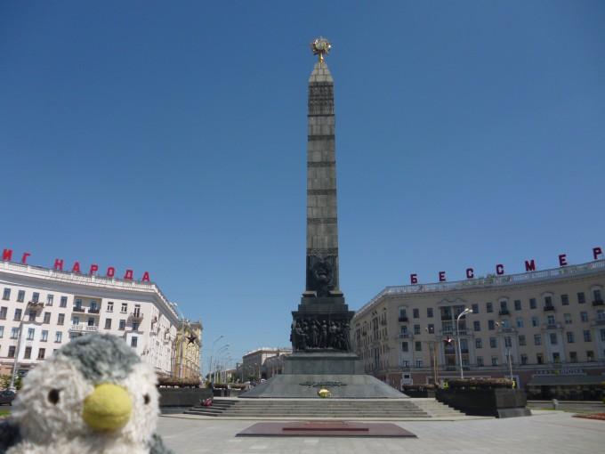 これはベラルーシの勝利広場!