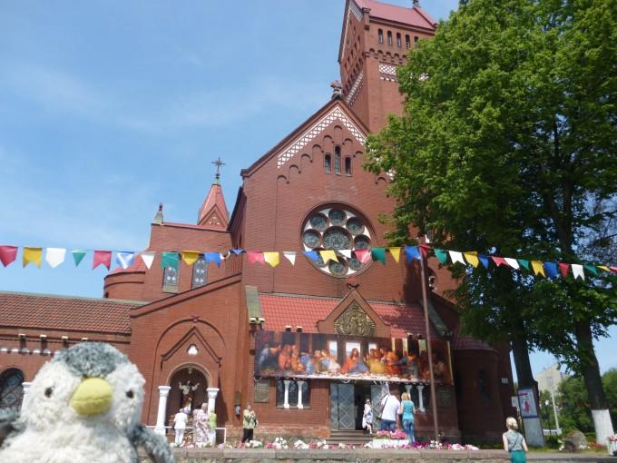 街の真ん中にある教会に日本と繋がりのあるものが。