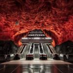 ストックホルムの地下鉄アートに感動!世界最大の地下美術館!