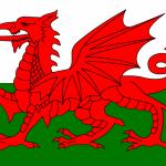 ウェールズの首都カーディフには、国旗の赤いドラゴンがいっぱい!